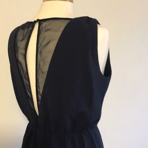 New Adelyn Rae Navy Open Back Cinched Waist Dress